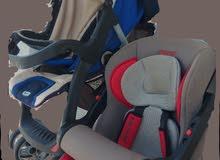 عربة اطفال وكرسي أطفال