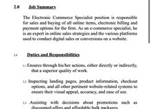 E-commerce Specialist/ Riyadh
