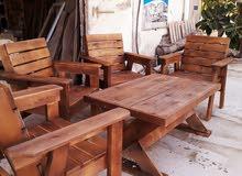 جلسة بالخشب