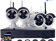 نظام 4 كاميرات لاسلكي شامل التركيب
