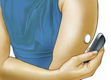حساس لقياس نسبة السكر بالدم بدون وخز