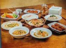 مطعم حمص وفلافل للبيع او المشاركه