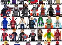 Lego like 5pcs Marvel DC Avengers Batman Xmen Deadpool Super hero Action Figures Toys For Children
