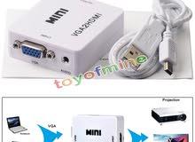 1080P Audio VGA To HDMI HD HDTV Video Converter Box Adapter For PC Laptop DVD