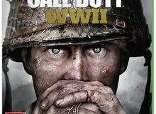 للبيع قرص call of duty ww2 و قرص gears of War 4