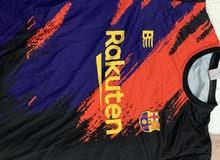 قميص برشلونة ملون اسود و احمر عالي الجودة XXL