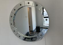 Large mirror with bulbs