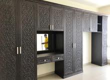 تصميم وتصنيع أفضل أنواع المطابخ وخزائن الملابس  من الألمنيوم والخشب