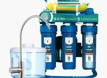 يوجد لدينا جميع انواع فلاتر المياه والاجهزة المركزية وأجهزة تنقية وتحلية مياه
