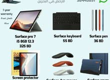 Microsoft Surface pro7 with its accessories