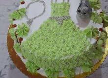 كيك جاهز لكل المناسبات حسب الطلب واسامي على الكيكة