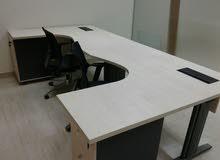 للبيع اثاث مكتبي شبه جديد