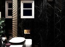 حمام مشروع شقة#سوديك . . الوان توحي بالهدوء والرقي..