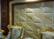 ورق حائط 7d خامه الجلد قابله للتنظيف وضدالقطع خامه نسيج قابله للتنظيف وضدالقطع