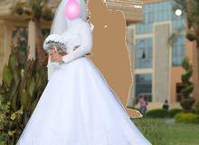 فستان زفاف مستعمل مره واحده