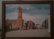 لوحة رسم اصلية. فنان اسبانيا