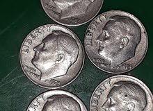 عملة قديمة أمريكية one dime 1965 1974 1975 75 75