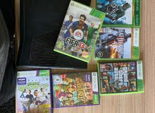 xbox 360 250 gb with kinect and 8 games from italy