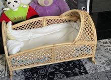 سرير خرزان من افضل نوع مع فرشه