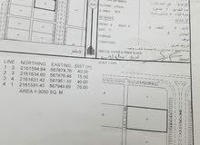 ارض للايجار صناعية الدقم  3000متر