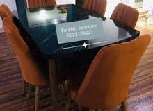 تخفيض طاولات اكل تركية مع 6مقاعد مع ميزة تكبير وتصغير الطول