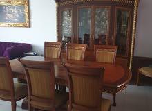 طقم سفرة للبيع مكون من الكونسول ومراي ..البوفيه وطاولة السفرة والكراسي