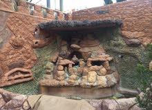 منزل مستقل الأرضي شبه فيلا مرج الحمام 6 شقق 450000
