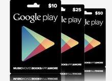 بطاقات جوجل بلاي Google Play