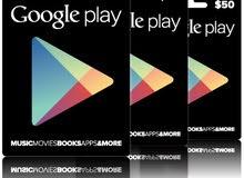 بطاقات جوجل بلاي  Google play cards