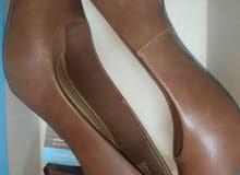 comfortable plus heels size 37 basic brown