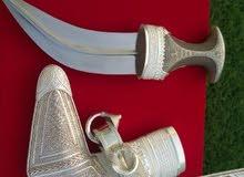خنجر قرن زراف هندي جميل جدآ صياغة ثقيلة وشكلها جميل