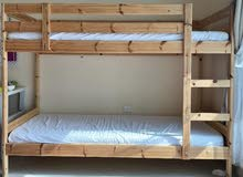 سرير طابقين للبيع Wooden bunk bed for sale