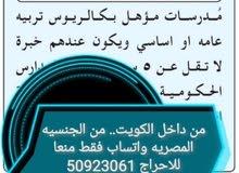 مطلوب مدرسات لغة عربية وانجليزية فقط