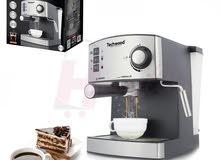 لعشاق القهوة الأصيلة جهاز اكسبريسو لألذ وأحسن قهوة وكاباتشينو من تيكوود TECHWOOD