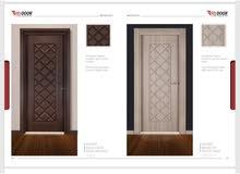 أبواب WPC التركيه بدون خشب لايتأثر ب(الماء/الرمه/الرطوبه/مقاوم للحريق)
