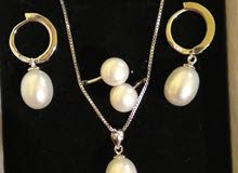 Freshwater pearl silver 925 set.