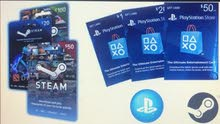 أرخص بطاقات بلايستشن وستيم فالأردن-Lowest price PSN+Steam cards in Jordan
