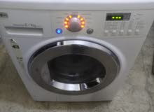 غساله فل مع حماصه LG 1400دورة 8كيلو دايركت درايف توفير كهرباء وماء