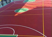 ارضيات اكريليك للكرة السلة و كرة الطائرة