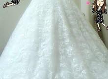 فستان ايفوري  ، ملبوس لبسة وحدة فقط .