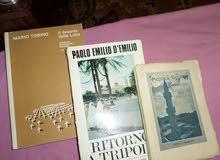 ثلاثة كتب ايطالية قديمة عن ليبيا