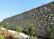 بناء سلاسل حجريه تشيك مزارع استصلاح أراضي