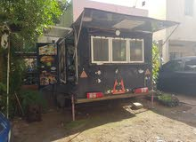 Caravan 4 wheel food truck for sale
