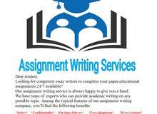 Assignment writer available for all subjects كاتب المهام متاح لجميع المواد