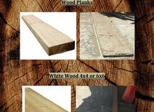wood planks and white wood