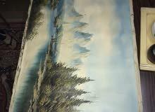 سلام عليكم  لمحبي اللوحات العالميه لو حات عدد2 رسم عل قماش(فرچه)