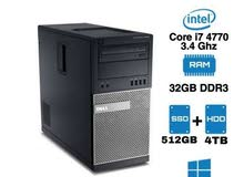 عاجل للبيع كمبيوتر ديل i7 بمواصفات متميزه
