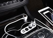 HOCO Z13 LCD one-pull-three car charger silver