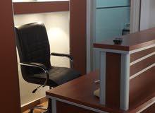 مكتب بالاثاث للايجار باب بن غشير