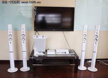 مسرح منزلى سوني 1200 وات بمشغل إسطوانات بلو راي ثري دي لون أبيض BDV-N9200WL